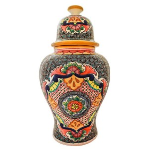 Talavera Ginger Jar Handmade in Puebla Mexico