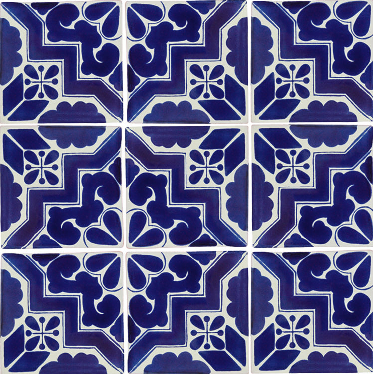 Talavera Tiles Talaveracom - Black and white talavera tile